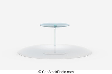 round of glass tiers stand - two tiers of round glass stand...