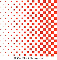 Red halftone background. Vector illustration.