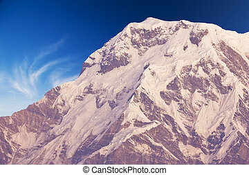 Mount Annapurna South at Dawn, Nepal - Image of Mount...