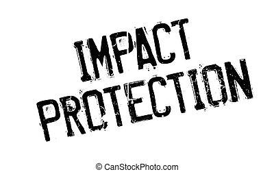 impacto, caucho, protección, estampilla