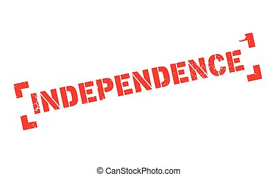 Independence rubber stamp. Grunge design with dust...