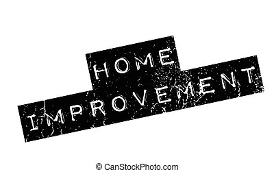 Home Improvement rubber stamp. Grunge design with dust...