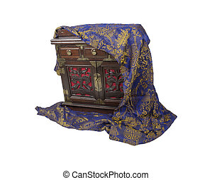 Antique Chest and Scarf