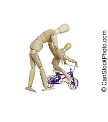 Teaching to ride a bicycle