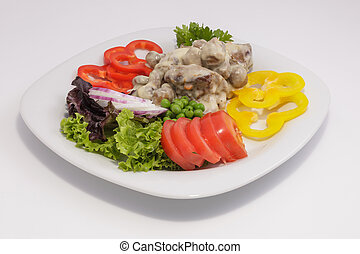 Champignons with sauce