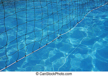 Water Polo net in swimming pool
