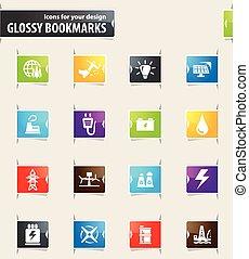 Alternative energy icons set - Alternative energy icons for...