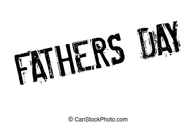 Fathers Day rubber stamp. Grunge design with dust scratches....