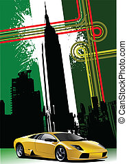 Cover for brochure with New York i