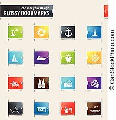 Cruise Bookmark Icons