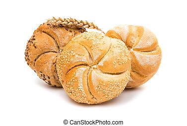 Kaiser bun on a white background