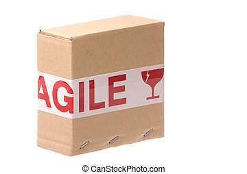 Box with Fragile Tape