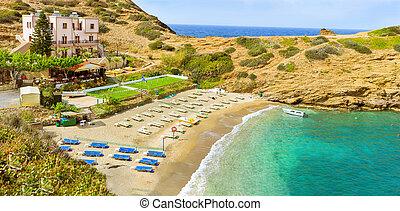 Evita & Karavostasi Beach in resort Bali, Crete - Sandy...