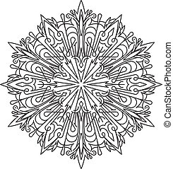 bstract vector round lace design - mandala, decorative element