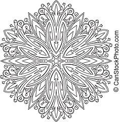 bstract vector round lace design - mandala, decorative...