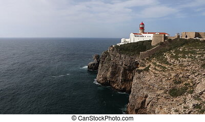 Timelapse of Cape St. Vincent Lighthouse, Portugal - A...