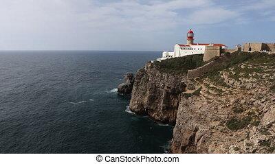 Timelapse of Cape St. Vincent Lighthouse, Portugal - A...