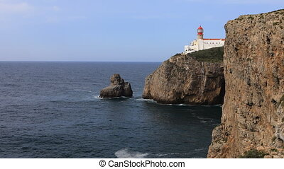 Timelapse of Cape St. Vincent Lighthouse in Portugal - A...