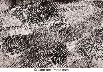 Close up of Black Fingerprints