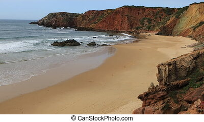 Beautiful beach with large waves - A Beautiful beach with...