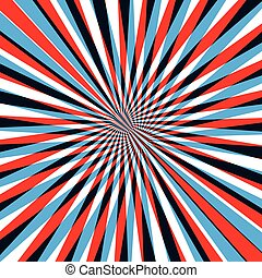 Red and blue abstract line background