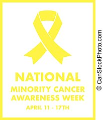 national minority cancer awareness ribbon