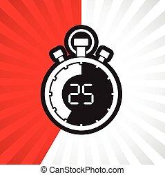 stopwatch twenty five minute