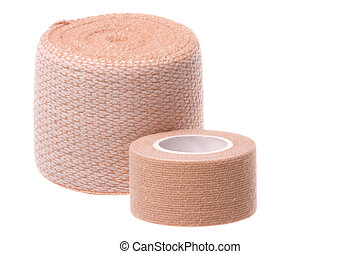 Bandages Macro Isolated - Isolated macro image first aid...