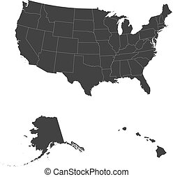 Detailed map of USA including Alaska and Hawaii