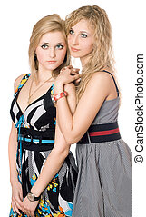 Portrait of two pretty young women