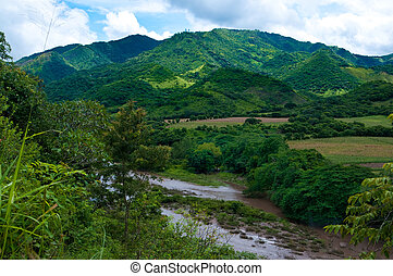 River in the mountains of Nicaragua