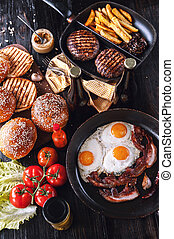 components for juicy homemade burger - components for a...