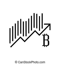 bitcoin statistics graphic icon