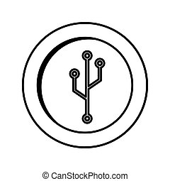 coin with circuit electric icon
