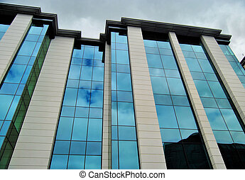 Perpendicular - Modern office building with strong...