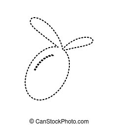Olive sign illustration. Vector. Black dashed icon on white background. Isolated.