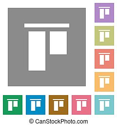 Align to top square flat icons - Align to top flat icons on...