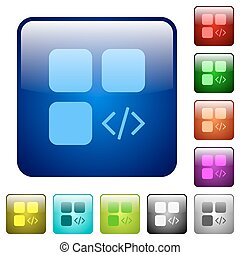 Component programming color square buttons - Component...