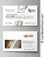 Business card templates. Easy editable layout, abstract...