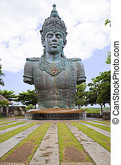 Giant Vishnu Statue at Bali, Indonesia - Image of a giant...
