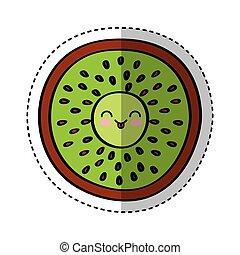 kiwi fresh fruit comic character