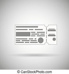 plane ticket. Ticket with cut lines vector symbol - plane...