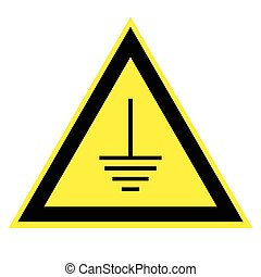 triangular sign grounding electrical equipment, the...