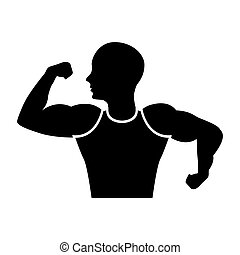 strong man human figure vector illustration design