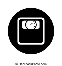weight scale isolated icon vector illustration design