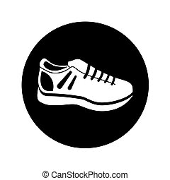 tennis shoes isolated icon