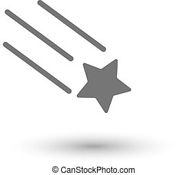 falling star icon. Star with speed lines - falling star icon...