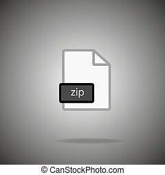 zip icon. zip Format symbol. zip  Vector sign