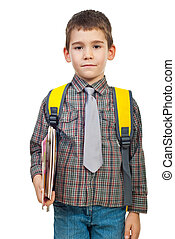 Boy in first day of school - Little boy in first day on...