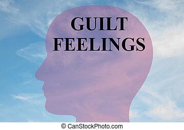 culpa, concepto,  -,  mental, Sentimientos